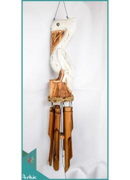 Top Model Garden Hanging Stork Bamboo Wind Chimes