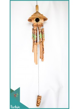 Production Bird House Garden Hanging Hand Painted Bamboo Wind Chimes