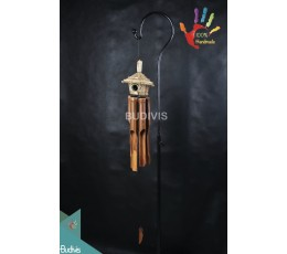 Best Out Door Hanging Natural Bamboo Wind Chimes Bird House