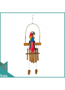 Best Style Out Door Hanging Parrot Bamboo Wind Chimes