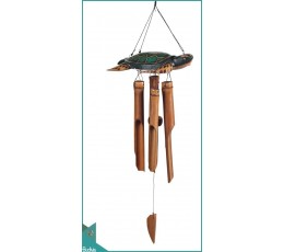 Best Out Door Hanging Wooden Turtle Carved Bamboo Wind Chimes