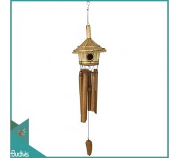 Bali Out Door Hanging Bird House Natural Bamboo Wind Chimes