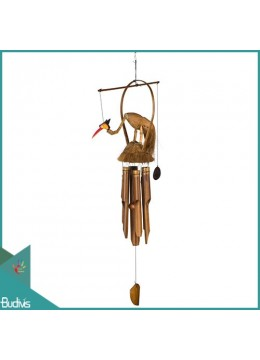 Manufactured Out Door Hanging Bird Bamboo Wind Chimes