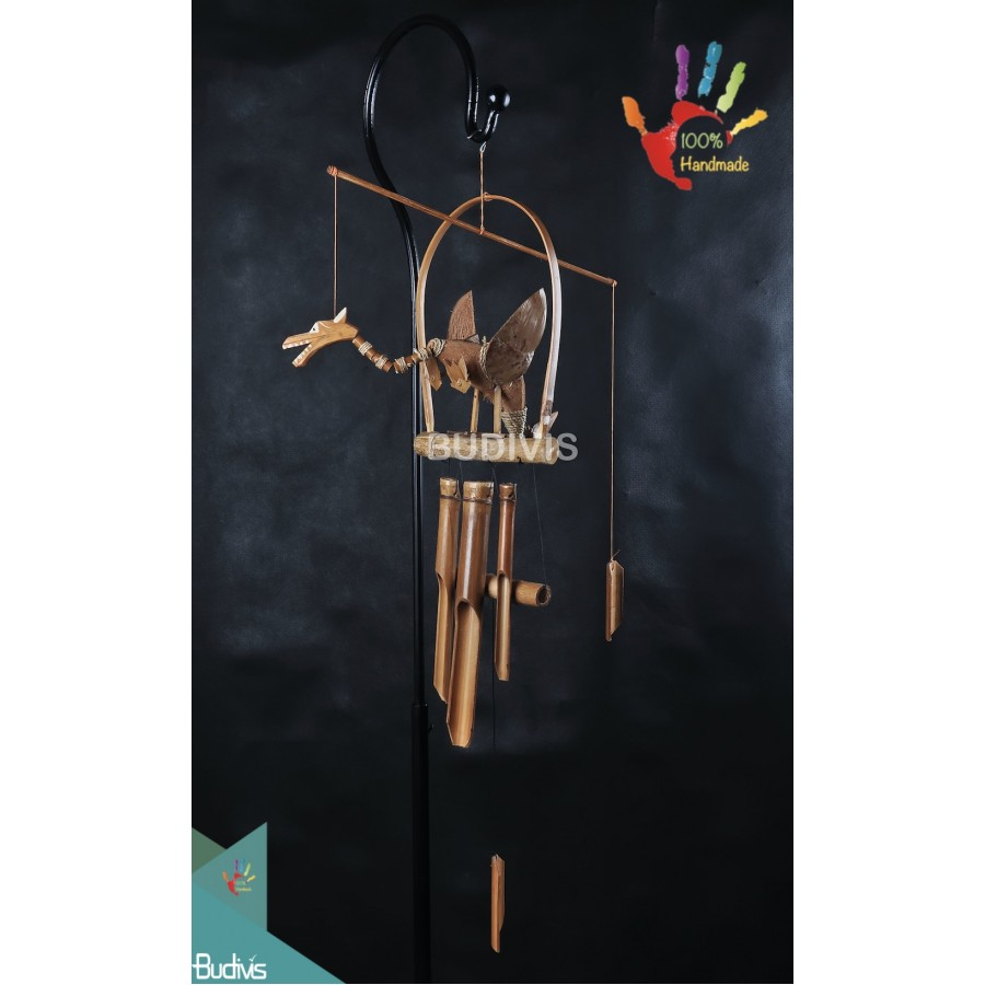 Production Out Door Hanging Dragon Bamboo Wind Chimes
