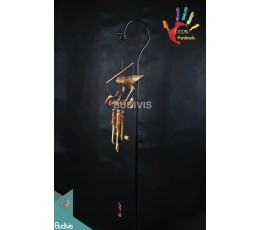Bird Fire Painting Out Door Hanging Bamboo Windchimes