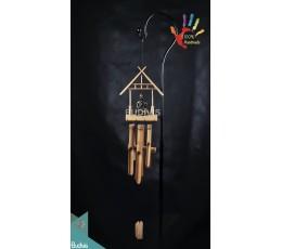 Buddha House Out Door Hanging Bamboo Windchimes