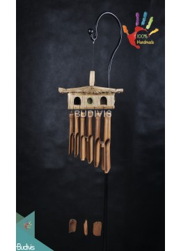 Multiple Bird House Out Door Hanging Bamboo Windchimes