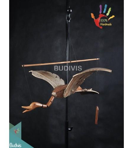 Bali Wholesale Flying Bird Out Door Hanging Bamboo Windchimes