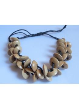 Beaded Wood Bracelet