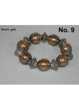 Bracelet bead Elastic - Brown
