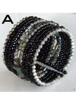 Top Model Wire Choker Beaded Bracelet