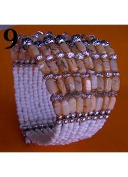 Top Model Wire Choker Beaded Pendant Bracelet