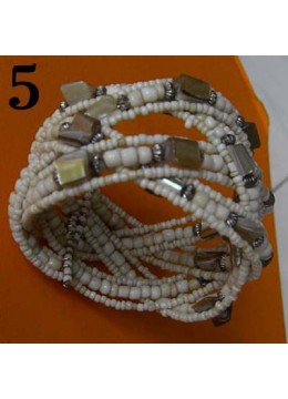 Bali Wire Choker Beaded Bracelet