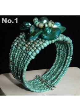 Manufacturer Wire Choker Beaded Bracelet