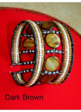 Top Model Wire Choker Beaded Bracelet Mop Shell