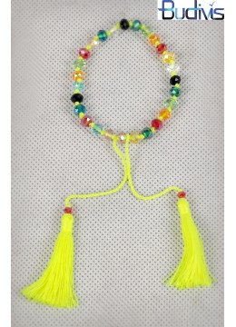 Crystal Bracelet Tassel Knotted
