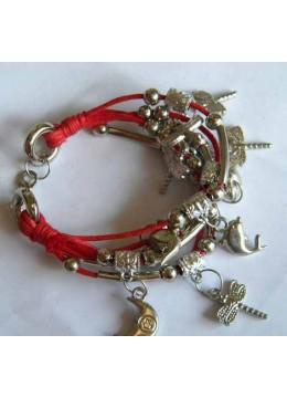 Multi-Cord Charm Bracelet