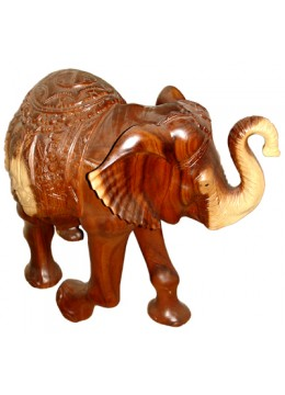 Natural Wood Root Elephant