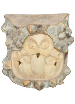 Wood Carving Owl 2 Baby