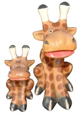 Wood Giraffe set of 2