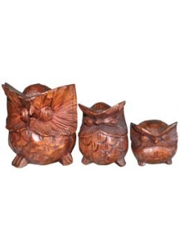 Owl set of 3 Animal Statue