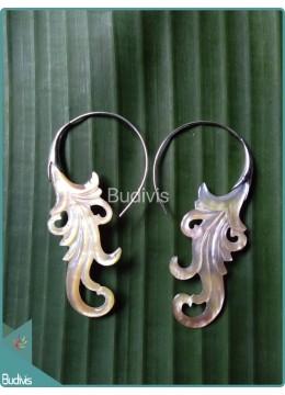 Sea Shell Crafting Earrings Sterling Silver Hook 925