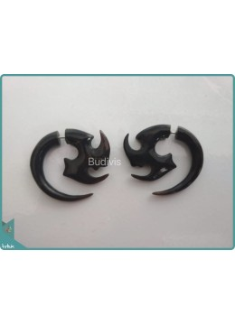 Horn Tribal Body Piercing  Sterling Silver Hook 925