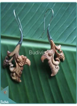 Wooden Balinese Style Body Piercing Sterling Silver Hook 925