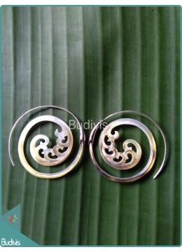 Spiral Koru Earrings Sterling Silver Hook 925