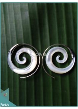 Flower Earring With  Sterling Silver Hook 925