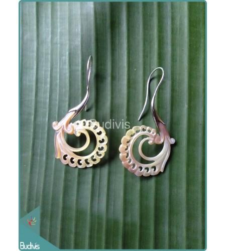 Yellow Flower Earring Sterling Silver Hook 925