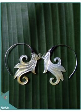 Lotus Flower Earrings Sterling Silver Hook 925