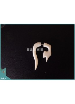 White Bone Earrings Sterling Silver Hook 925