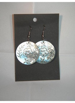 Carved Mop Earring