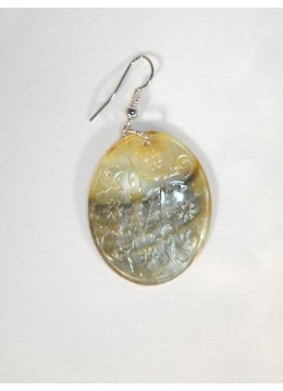 Carved Mop Pendant Earring