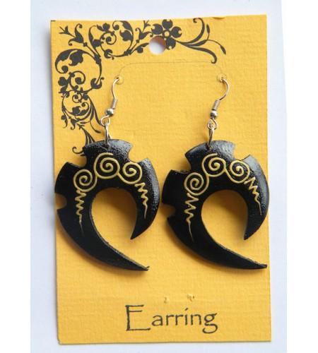 Bali Wood Earring