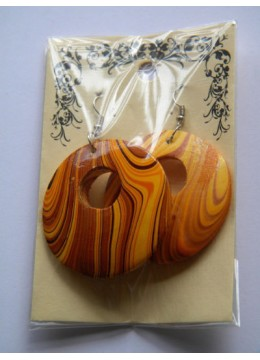 Wooden Painting Earring