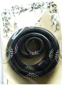 Bali Wooden Bead Earring