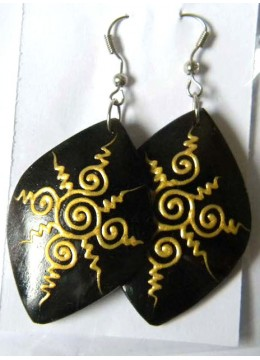 Wood Earring Natural