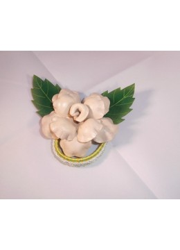 Hair Tie Leather Flower
