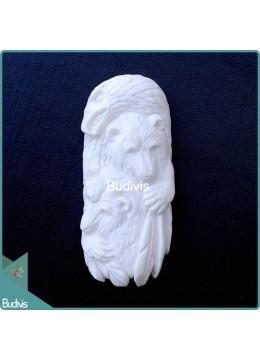 Ox Bone Carved Beast Animal Harmony Spirit Model