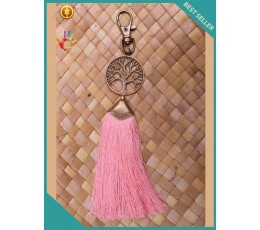 Bali Art Metal Keychain Tassels