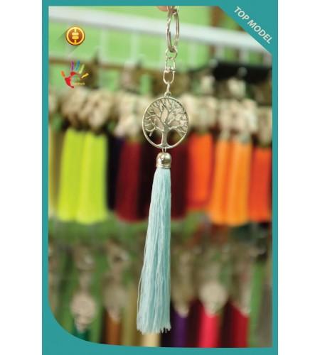 Bali Art Tree Tassel Keychain