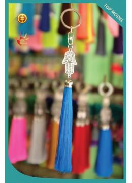 New! Art Hamsa Tassel Keychain