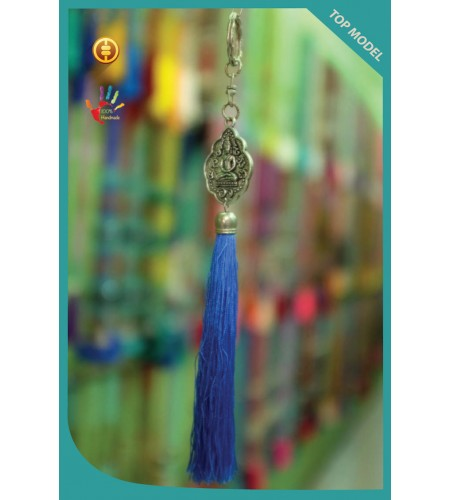 Top Art Buddha Tassel Keychain