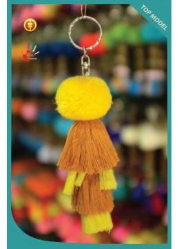 New! Pom Pom Tassel Keychain