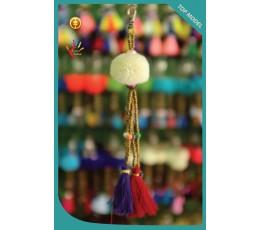 Bali Tassel Keychain Pom Pom