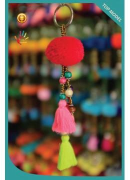 Top Tassel Keychain Pom Pom