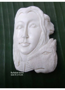 Bali Ox Bone Carved Pendant Spirit Model