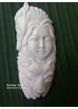 From Bali Ox Bone Carved Pendent Factory Price